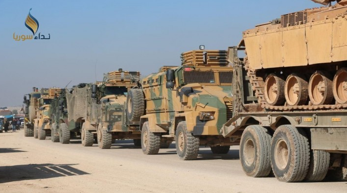 Turkish army convoy that entered Syria on February 2, 2020 (Nida Suriya, February 2, 2020)