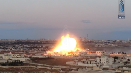 Car bomb explosion against forces of Shiite militias in west Aleppo (Ibaa, February 1, 2020)