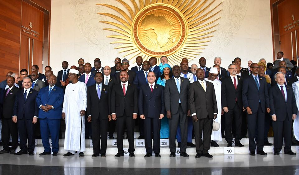 The African Union summit meeting (Facebook page of Muhammad Shtayyeh, February 9, 2020).