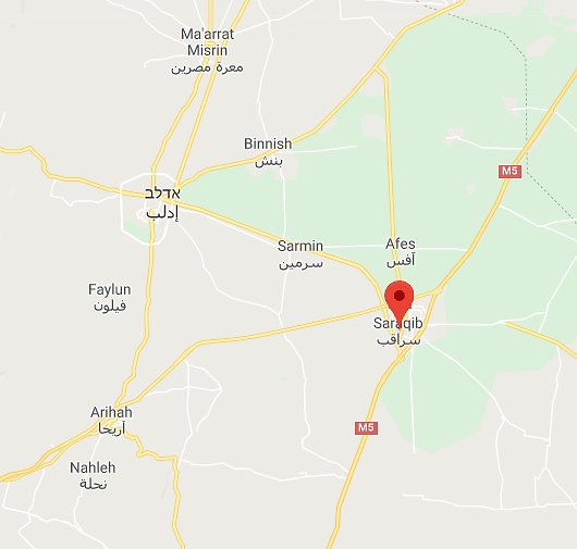The city of Saraqib (Google Maps)