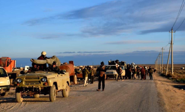 Popular Mobilization operatives during the operation.
