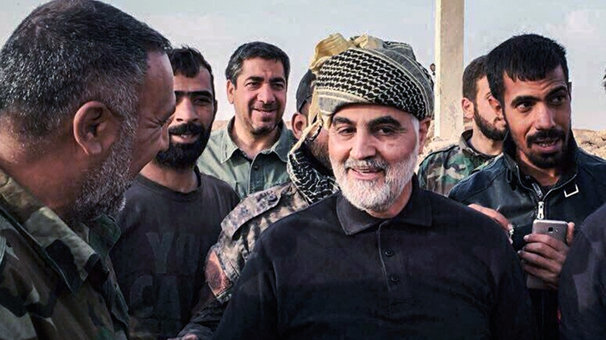 Soleimani's visit to Albu Kamal, eastern Syria, after its capture from ISIS in November 2017 (ISNA, November 20, 2017)