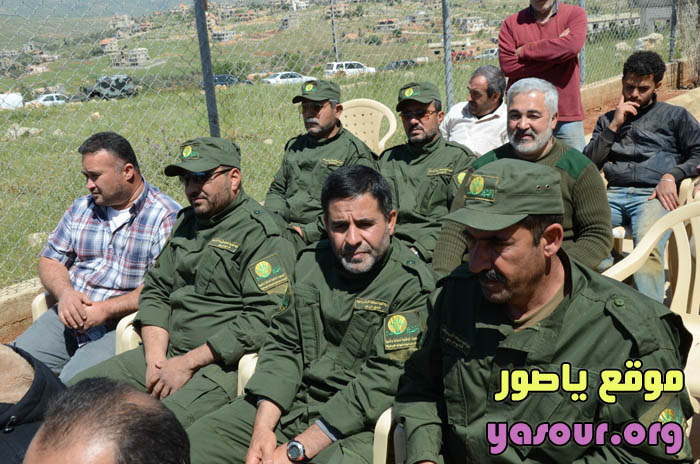 Green Without Borders operatives in uniform (Oh Tyre! website, April 19, 2015) Their hats and shoulder patches bear the Green Without Borders logo. The color of the uniforms is similar to that of the local forest rangers in some of the Lebanese towns.