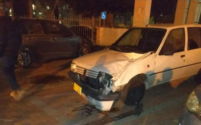 Fragment of an Iron Dome aerial defense system's intercepting rocket. It fell on the hood of a car in Ashqelon (News from the Field, February 23, 2020).