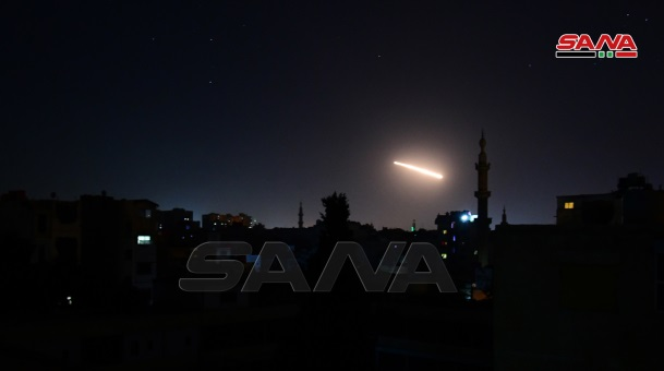 Syrian army anti-aircraft fire (Sana, February 24, 2020).