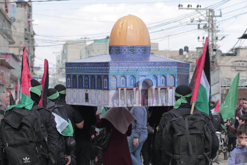 Hamas protest march held in the southern part of Gaza City (Hamas website, February 21, 2020).