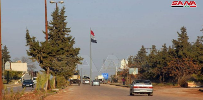 The Damascus-Aleppo highway (M-5) which opened for traffic (SANA, February 23, 2020).