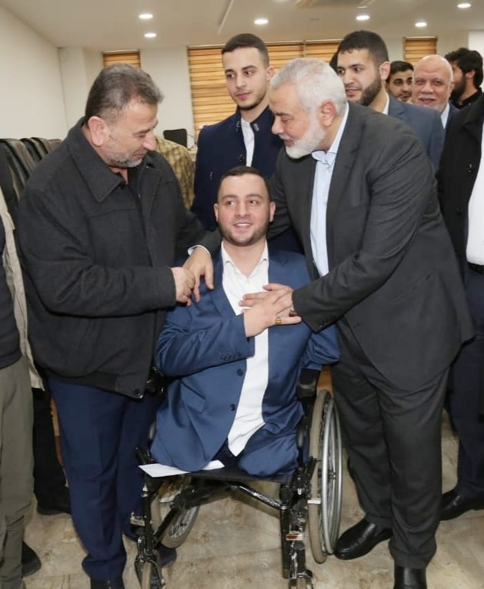Isma'il Haniyeh meets with wounded Gazans in Turkey (Hamas website, February 27, 2020).