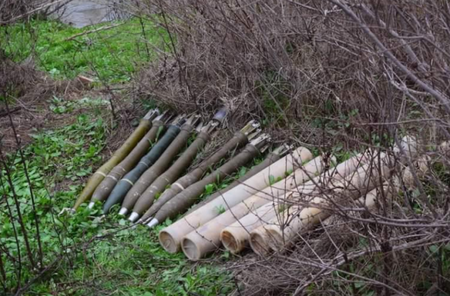 "Rockets found by an Iraqi Interior Ministry force in ISIS ""guesthouses"" in the Kirkuk Province (Al-Sumaria, February 26, 2020)"