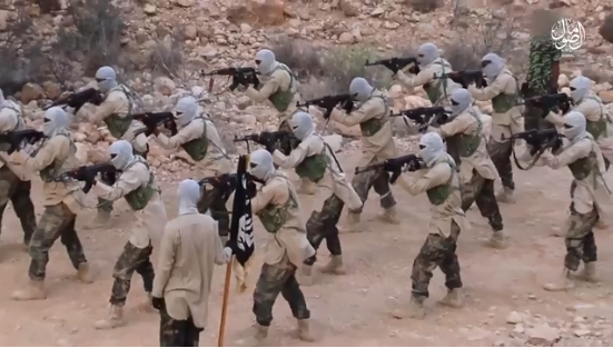 Physical training of ISIS's Somalia Province operatives.