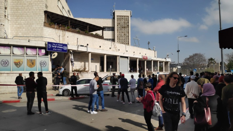 The police station where the stabbing attack was attempted (The Communication Talking Group, March 10, 2020).