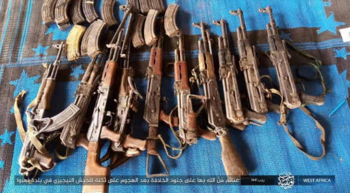 Weapons and ammunition seized by ISIS operatives (Telegram, March 8, 2020)