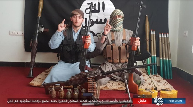 Two ISIS operatives who carried out the attack in Kabul (Telegram, March 6, 2020)
