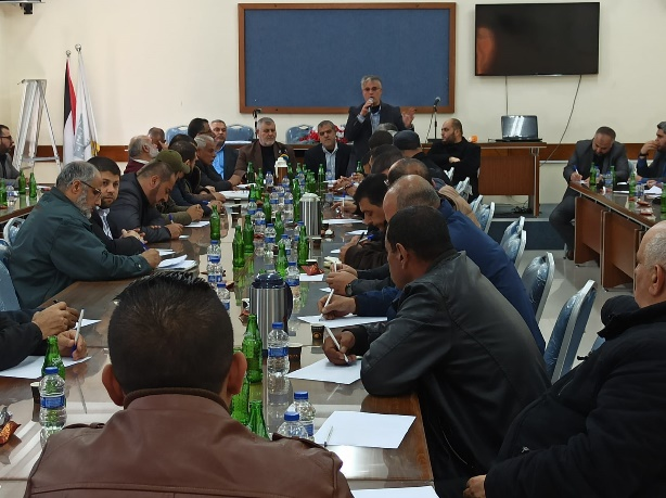 The Supreme National Authority meeting (Twitter account of journalist Hassan Aslih, March 11, 2020).