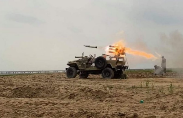 Katyusha rockets being fired at ISIS operatives west of Samarra (al-hashed.net, March 15, 2020).