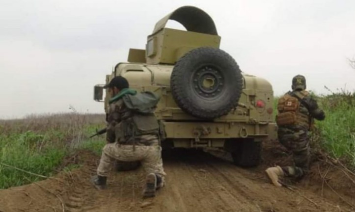 Two Popular Mobilization operatives during the operation west of Samarra (al-hashed.net, March 15, 2020)