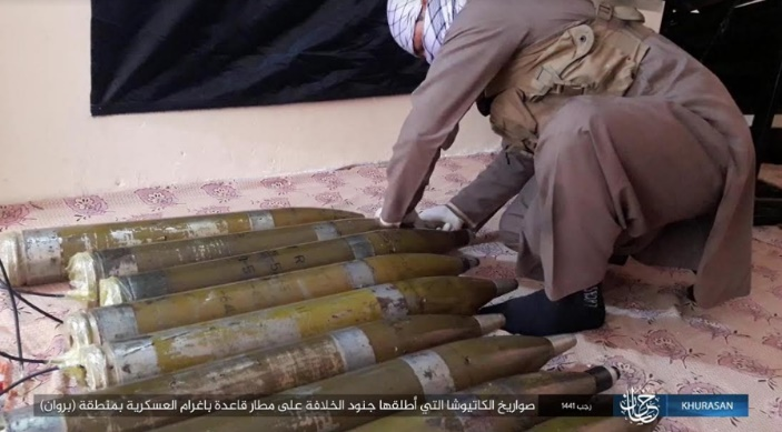 ISIS operative preparing the rockets fired at Bagram military airbase.
