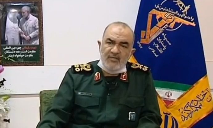 The Commander of the IRGC, Hossein Salami (Defa' Press, March 28, 2020)