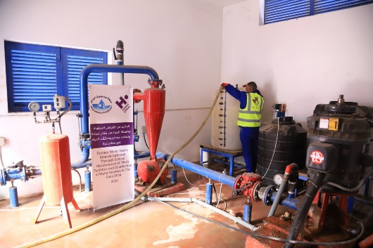 Disinfection of wells throughout the Gaza Strip funded by the Human Appeal Association (Facebook page of the Coastal Municipalities Water Utility (CMWU), April 2, 2020)