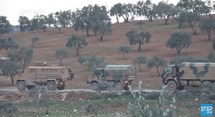 Turkish army convoy en route to the Idlib region (Khotwa, April 2, 2020)