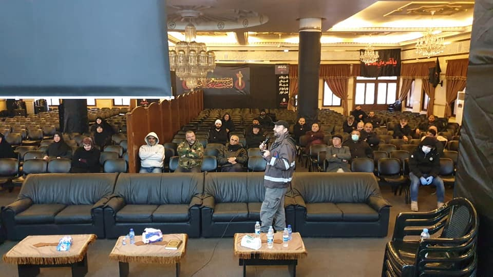 Workshop to enhance awareness of COVID-19 risks in Labaya, in the Bekaa Valley (Rassed Network's Facebook page, March 25, 2020)