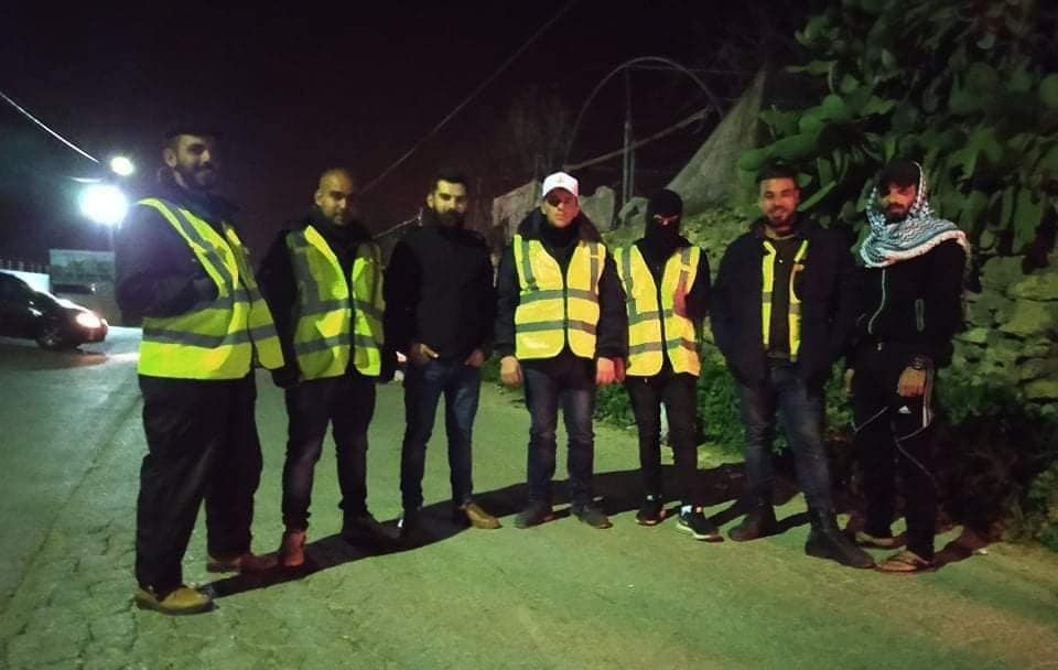 Fatah's emergency committees in the village of Bayt Umar (north of Hebron) (Fatah Facebook page, April 11, 2020).