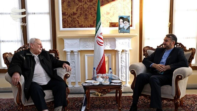The meeting between the adviser to the speaker of the Majlis with the Palestinian ambassador to Tehran (Quds Online, April 9, 2020).