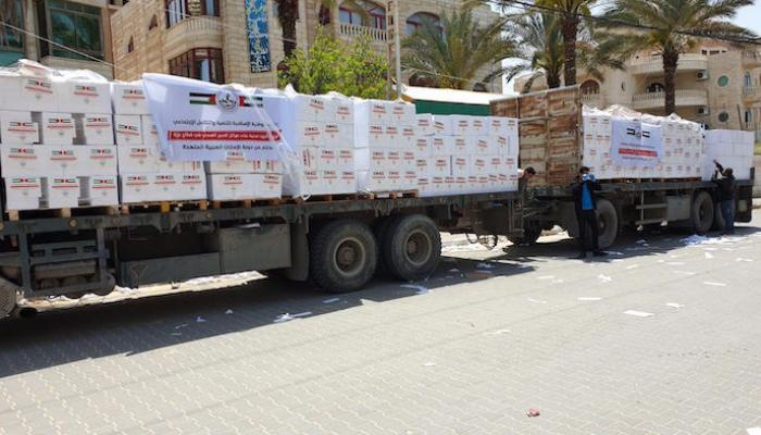 Aid donated by the UAE (al-Ayn, April 21, 2020).