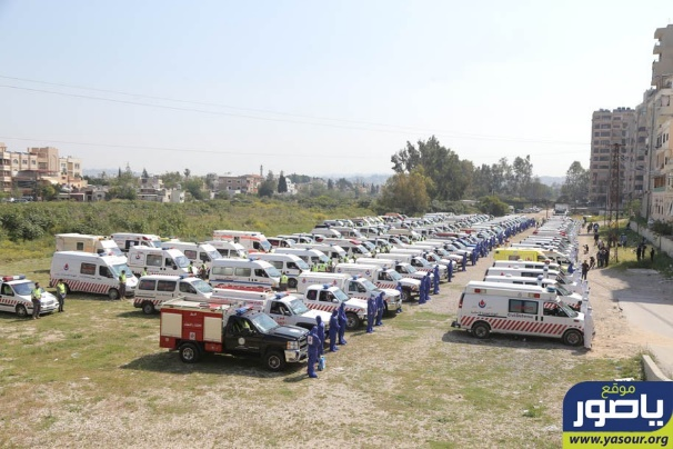 Islamic Health Organization's show of strength in Tyre (Ya Sour, April 14, 2020)