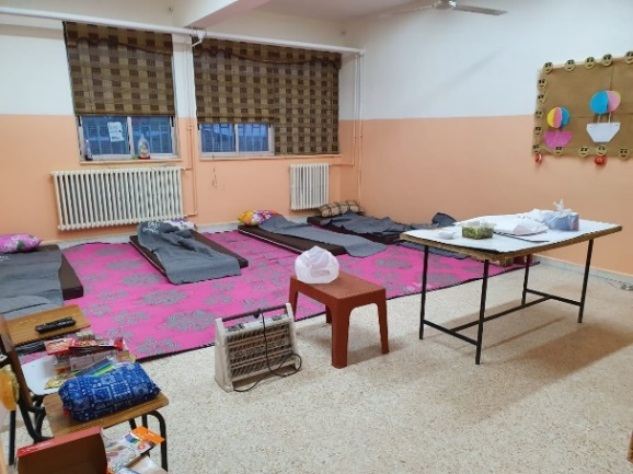UNRWA's school in the Al-Jalil camp being prepared to be used as an isolation center for confirmed patients detected in the camp and their families (Lebanon Debate website, April 25, 2020)