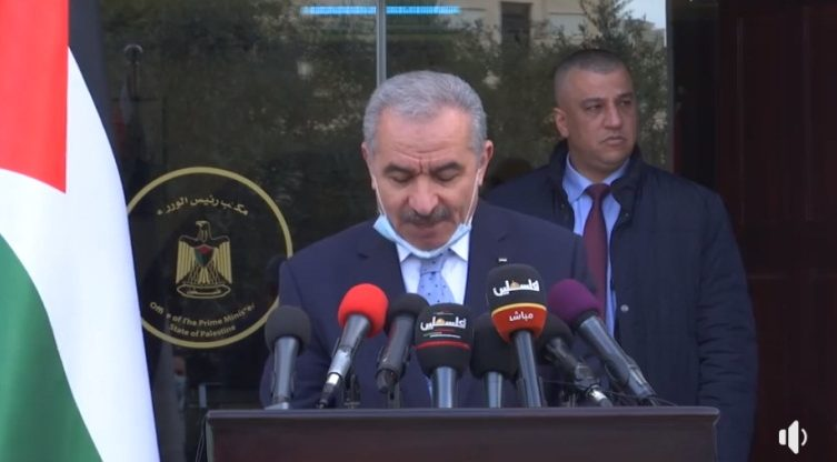 PA Prime Minister Muhammad Shtayyeh Muhammad Shtayyeh's daily briefing on developments in the fight against COVID-19 (Muhammad Shtayyeh's Facebook page, April 27, 2020).