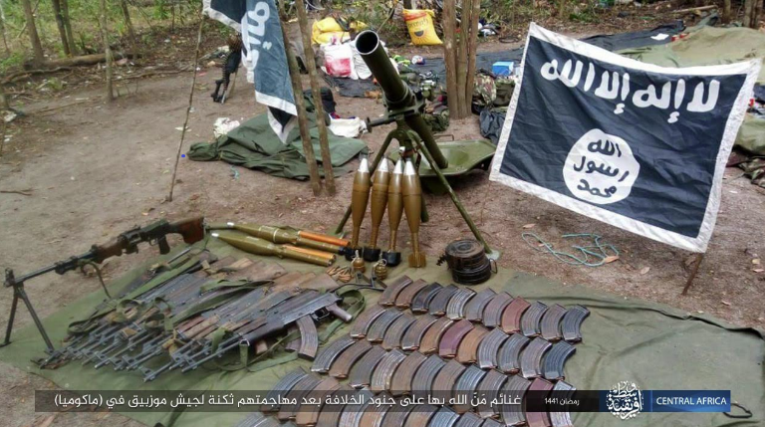 Weapons and ammunition seized by ISIS (Telegram, May 5, 2020)
