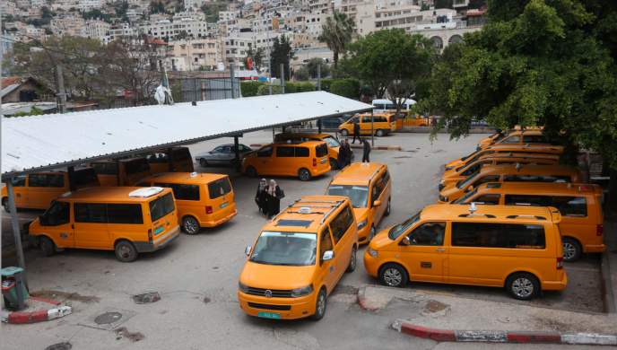 Renewal of public transportation in Nablus after preventive measures were relaxed (Wafa, May 6, 2020)