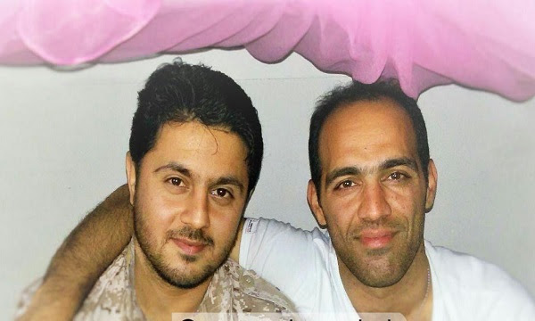 The IRGC fighter killed in Syria, Abolfazl Sarlak (on the left), alongside Heydar Jalilvand who was killed in Syria in 2017 (Defa Press)