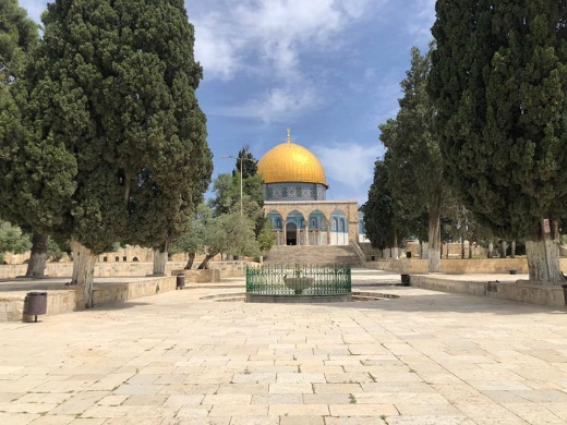 The Temple Mount plaza last Friday, empty of Muslim worshipers.