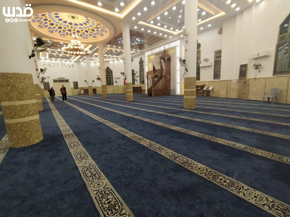 Empty mosque in Nablus during the month of Ramadan in accordance with instructions issued by the Palestinian government (QUDSN Facebook page, May 14, 2020)