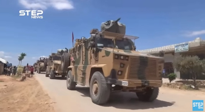 Turkish army armored vehicles en route to the Idlib region (Khotwa, May 23, 2020)