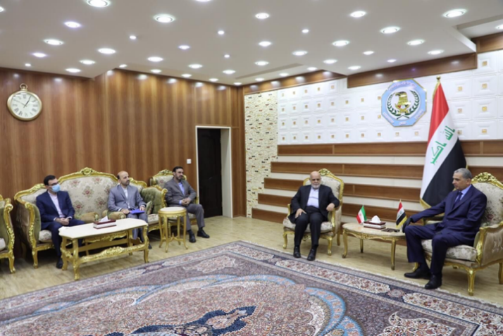 The meeting between the Iranian ambassador and military attache to Baghdad and the Iraqi minister of interior (IRNA, May 24, 2020)