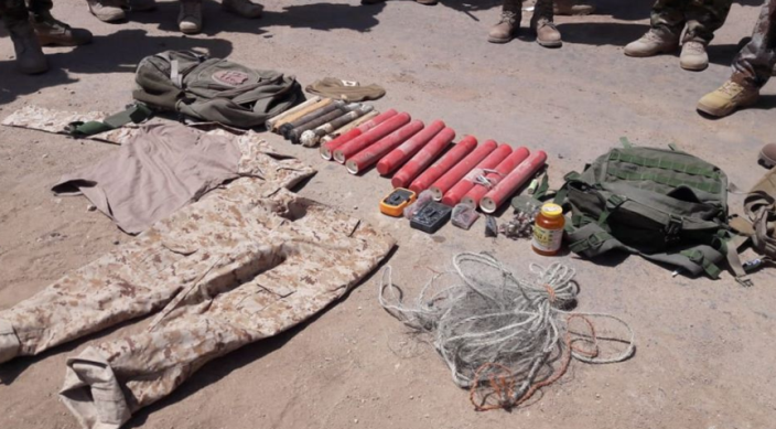 Weapons and military equipment seized by the Iraqi army (Facebook page of the Iraqi Defense Ministry, May 31, 2020)
