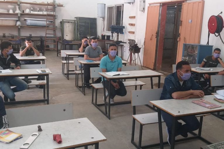 Renewal of studies in the ministry of labor's vocational training centers (website of the ministry of labor in Gaza, June 2, 2020).