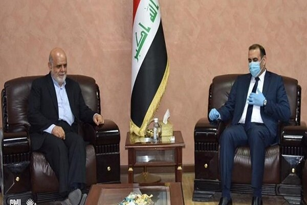 The meeting in Baghdad between the Iranian ambassador and Iraqi minister of planning (Mehr, June 1, 2020)