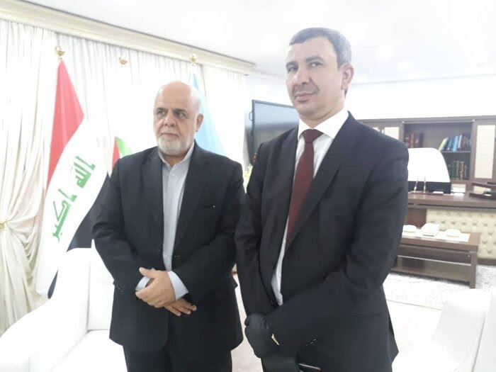 The meeting of the Iranian ambassador in Baghdad with the Iraqi minister of oil (IRNA, June 10, 2020)