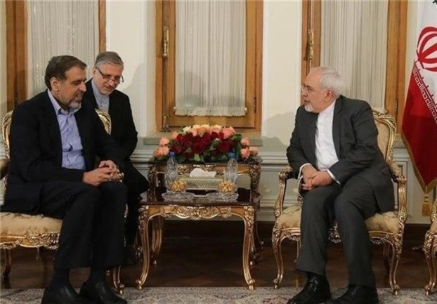 The meeting between the Iranian Minister of Foreign Affairs, Zarif, with Ramadan Shallah in Tehran in May 2016 (Tasnim, June 7, 2016).