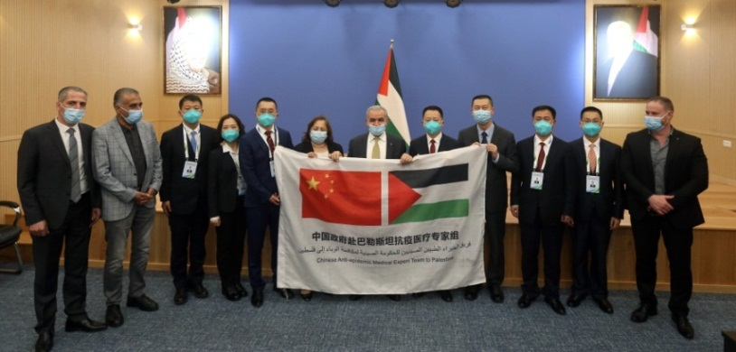 PA Prime Minister Muhammad Shtayyeh meets with the Chinese medical delegation in Ramallah (Wafa, June 11, 2020).