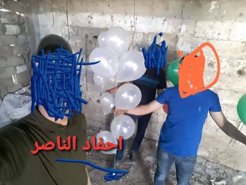 Launching incendiary balloons from eastern Gaza City (Ahfad al-Nasser Facebook page, June 12, 2020).