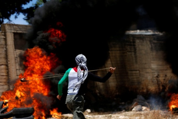 The weekly Palestinian riot in Kafr Qadoum against the settlements (Wafa, June 12, 2020).