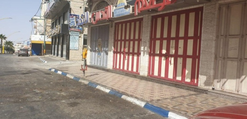 Empty streets in Hebron after preventive measures are implemented (Palinfo Twitter account, June 21, 2020).