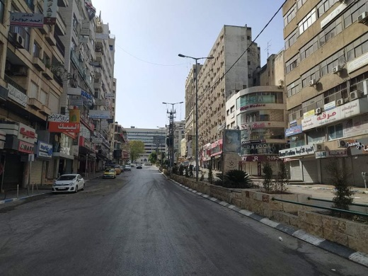 Empty streets in Nablus (Palinfo Twitter account, June 21, 2020).