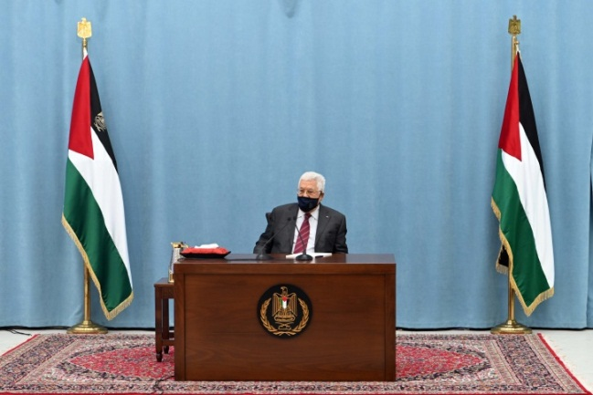 Mahmoud Abbas speaking at a meeting of Fatah's Central Committee in Ramallah (Wafa, June 19, 2020).