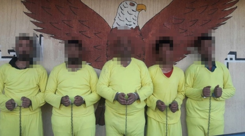 Five ISIS operatives captured by the Intelligence Directorate force (Al-Sumaria, June 20, 2020)